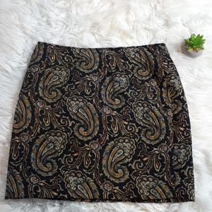Rickis Paisly quilted career skirt